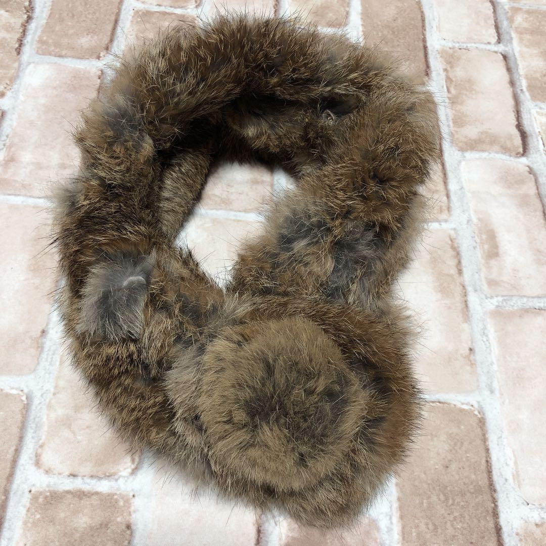 ラビットファー マフラー 本革 ファーマフラー スヌード ウサギ ファー 本物 毛皮 ティペット
