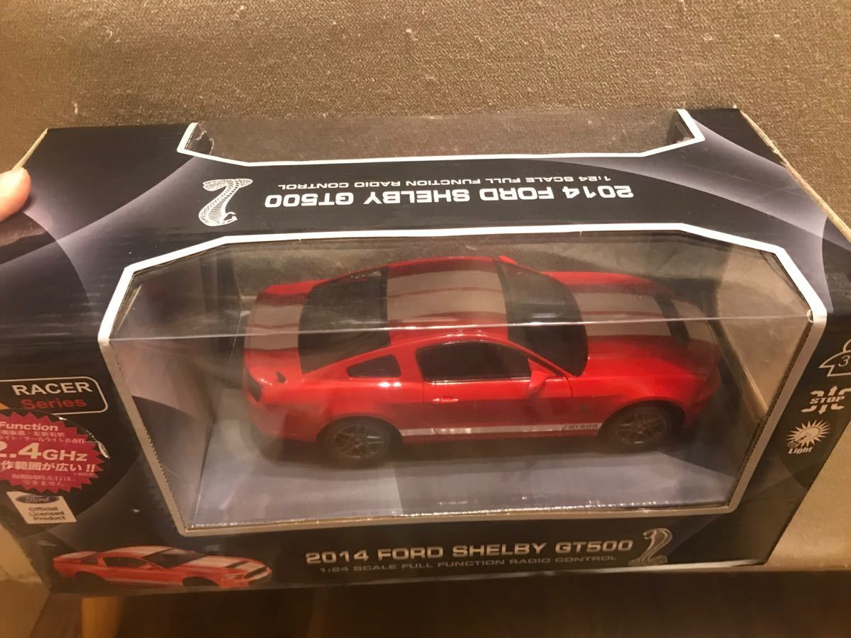 ラジコン 2.4GHz 1:24 RCカー フォードシェルビー GT500