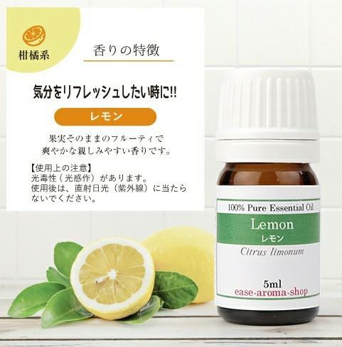 ティートリー&レモン エッセンシャルオイル 精油 アロマ 各5ml ストーン付