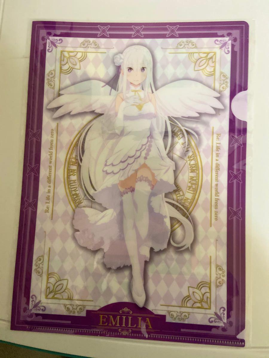 クリアファイル A4クリアファイル エミリア 天使