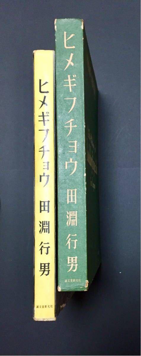 ヒメギフチョウ 生態写真 田淵行男 誠文堂新光社 _左本体、右函