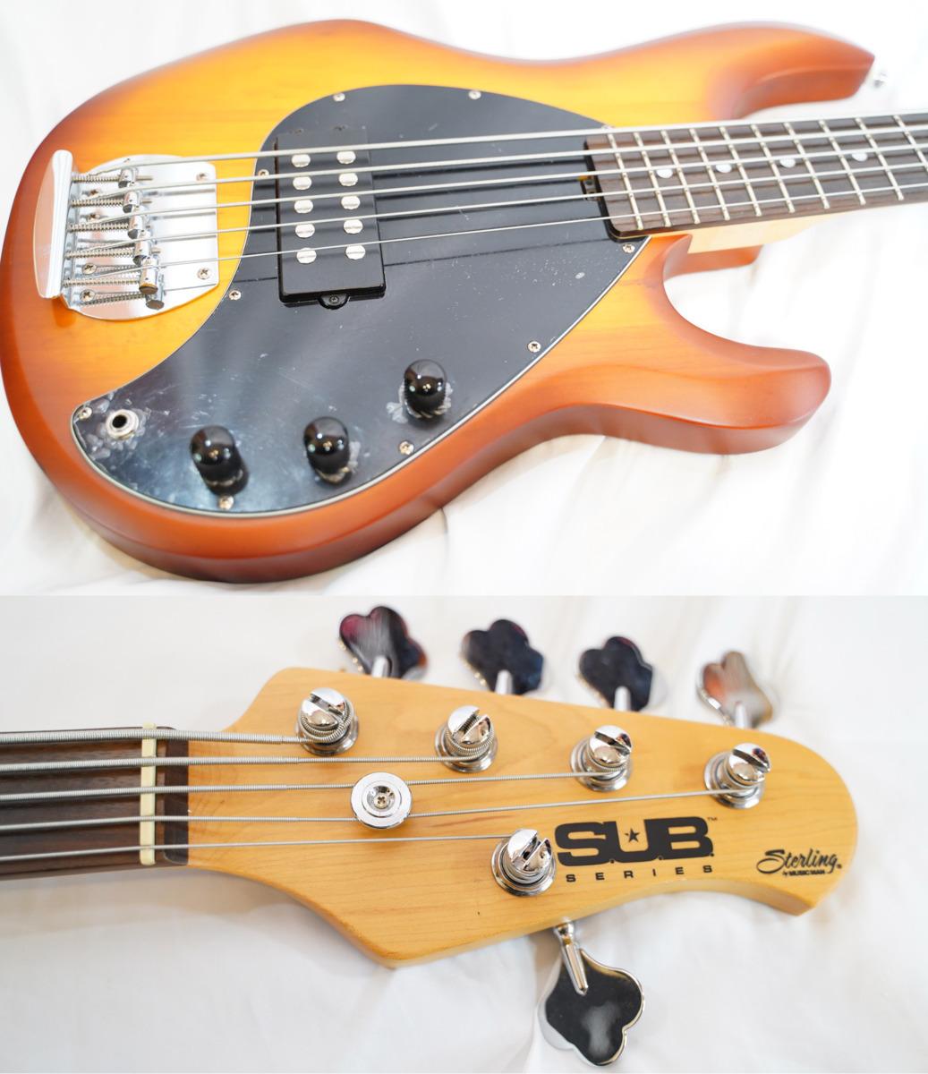 「Sterling by Musicman S.U.B RAY5 Sting Ray 5弦ベース Honey Burstミュージックマン 状態良好 (ミュージックマン エレキベース)」の画像