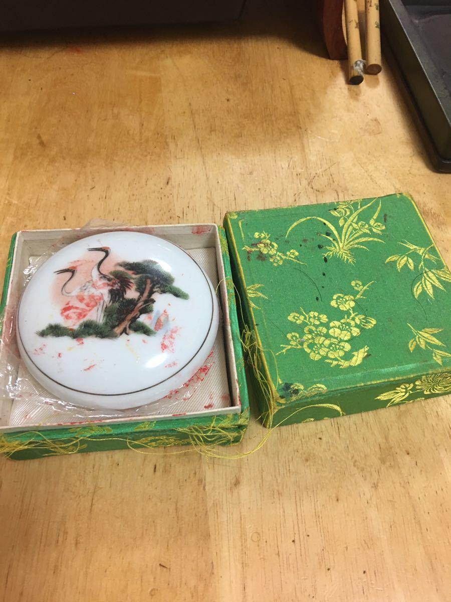 印泥 中国 朱肉 景徳鎮 西冷印社 八十年代 文房用品