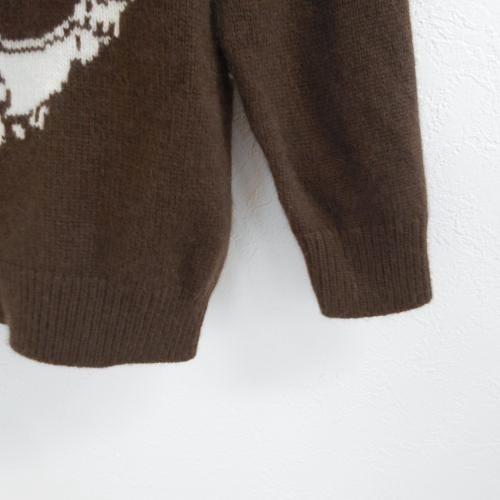 ヒスミニ ヒステリックミニ HYSTERIC MINI 100cm 長袖 ニット セーター コゲ茶 ウール カシミア 混 トップス_画像4