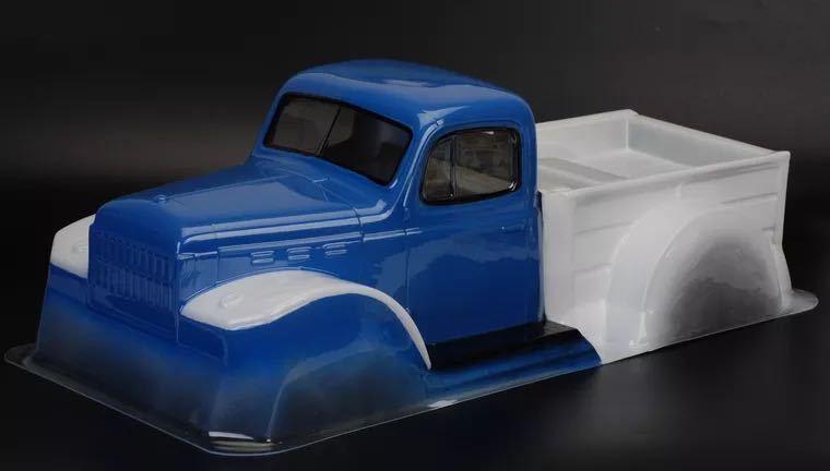TC製未塗装 1/10 ダッジパワーワゴントラック クリアボディ 313mm RC クローラー traxxas trx4 scx10 rc4wd アキシャル トラクサス タミヤ