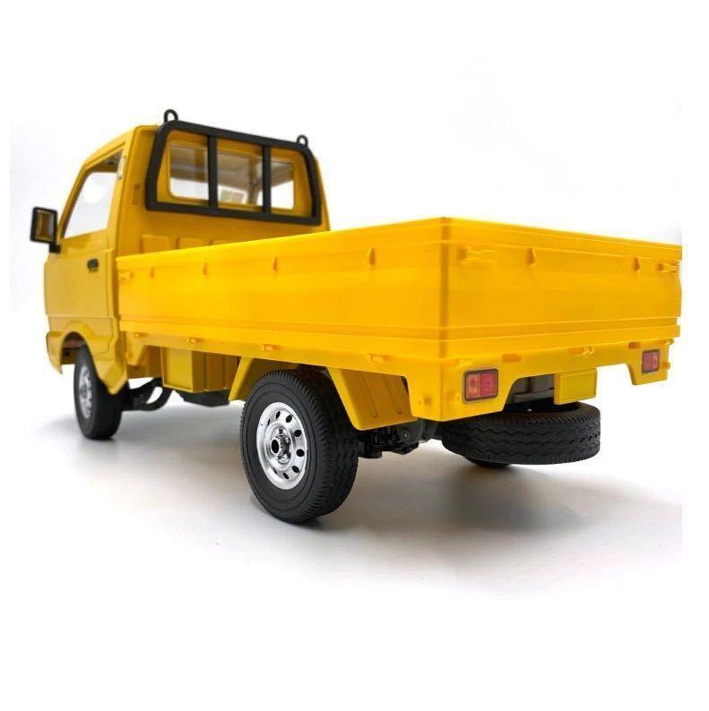★国内即納★バッテリー2本 黄色 イエロー WPL D12 ラジコンカー 軽トラック RC 1/10 2.4G 2WD RTR ドリフト スズキ キャリー SUZUKI CARRY_画像5