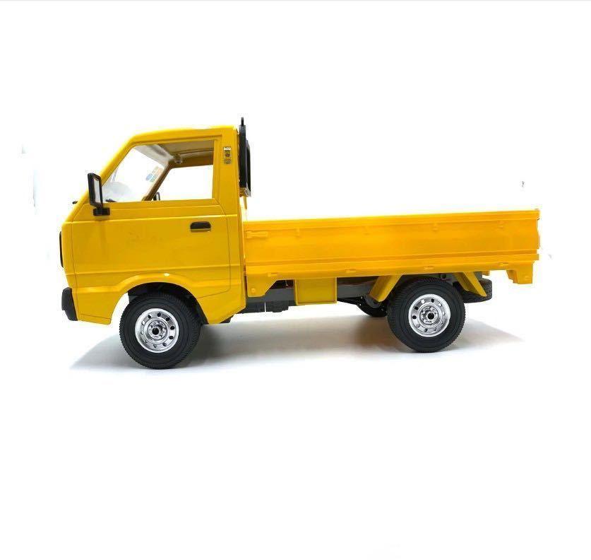 ★国内即納★バッテリー2本 黄色 イエロー WPL D12 ラジコンカー 軽トラック RC 1/10 2.4G 2WD RTR ドリフト スズキ キャリー SUZUKI CARRY_画像3
