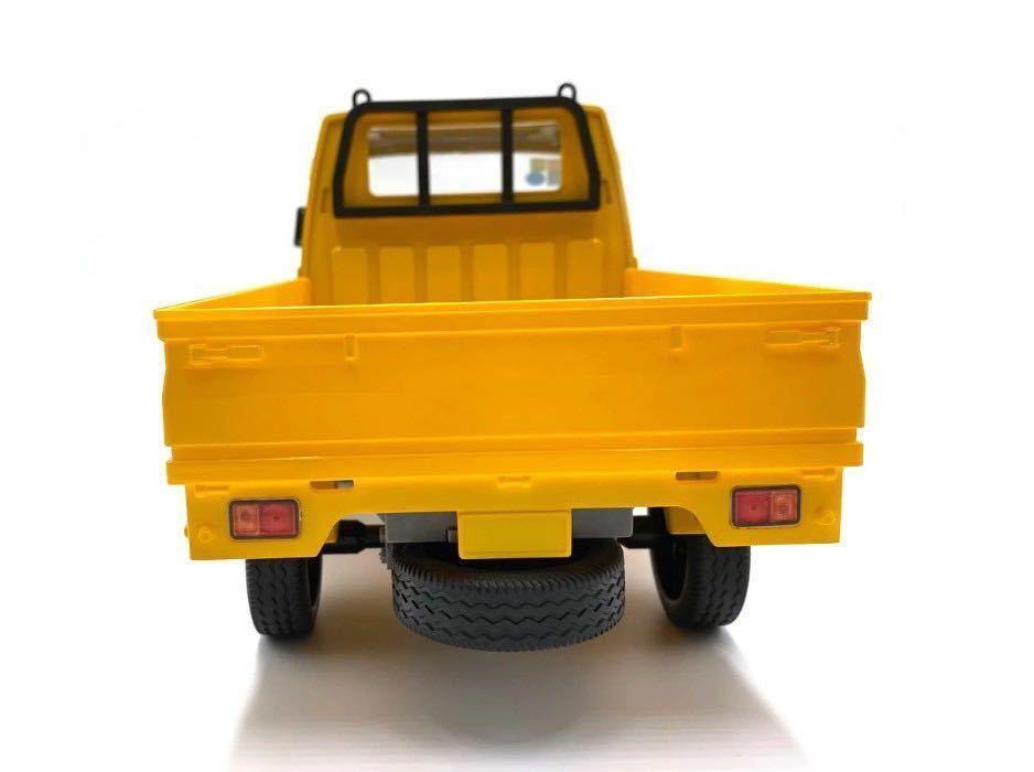 ★国内即納★バッテリー2本 黄色 イエロー WPL D12 ラジコンカー 軽トラック RC 1/10 2.4G 2WD RTR ドリフト スズキ キャリー SUZUKI CARRY_画像4