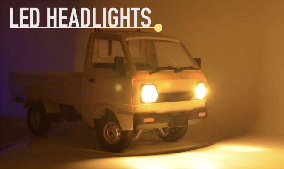 ★国内即納★バッテリー2本 黄色 イエロー WPL D12 ラジコンカー 軽トラック RC 1/10 2.4G 2WD RTR ドリフト スズキ キャリー SUZUKI CARRY_画像8