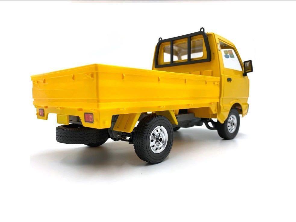 ★国内即納★バッテリー2本 黄色 イエロー WPL D12 ラジコンカー 軽トラック RC 1/10 2.4G 2WD RTR ドリフト スズキ キャリー SUZUKI CARRY_画像2