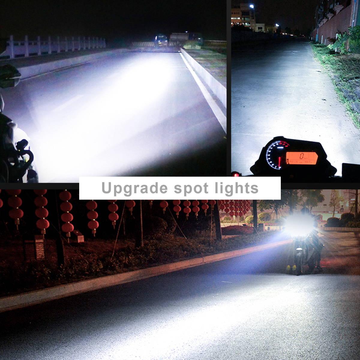2個入り! オートバイ/バイク ヘッドライト 補助灯 6連 ledフォグランプ 作業灯 12V スポットライト プロジェクター ワークライト ホワイト_画像4