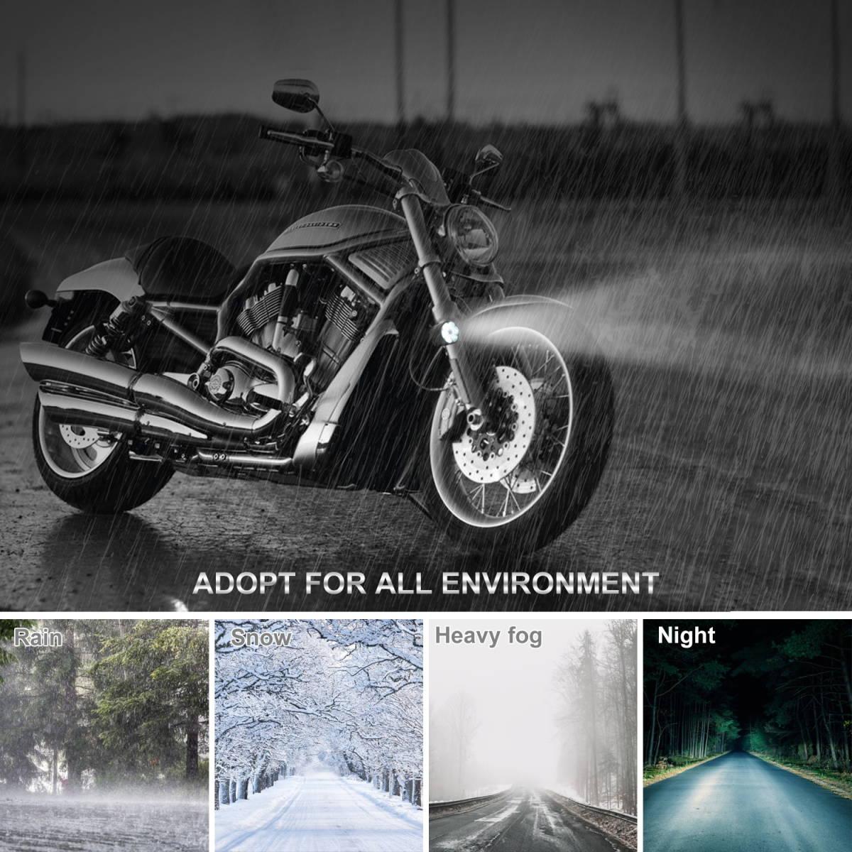 2個入り! オートバイ/バイク ヘッドライト 補助灯 6連 ledフォグランプ 作業灯 12V スポットライト プロジェクター ワークライト ホワイト_画像3