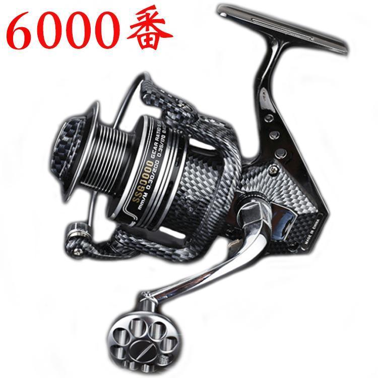 YU96 スピニングリール 6000番 左右ハンドル交換可能 軽量 耐腐食 水釣り 海釣り 船釣り 対応可能_画像1