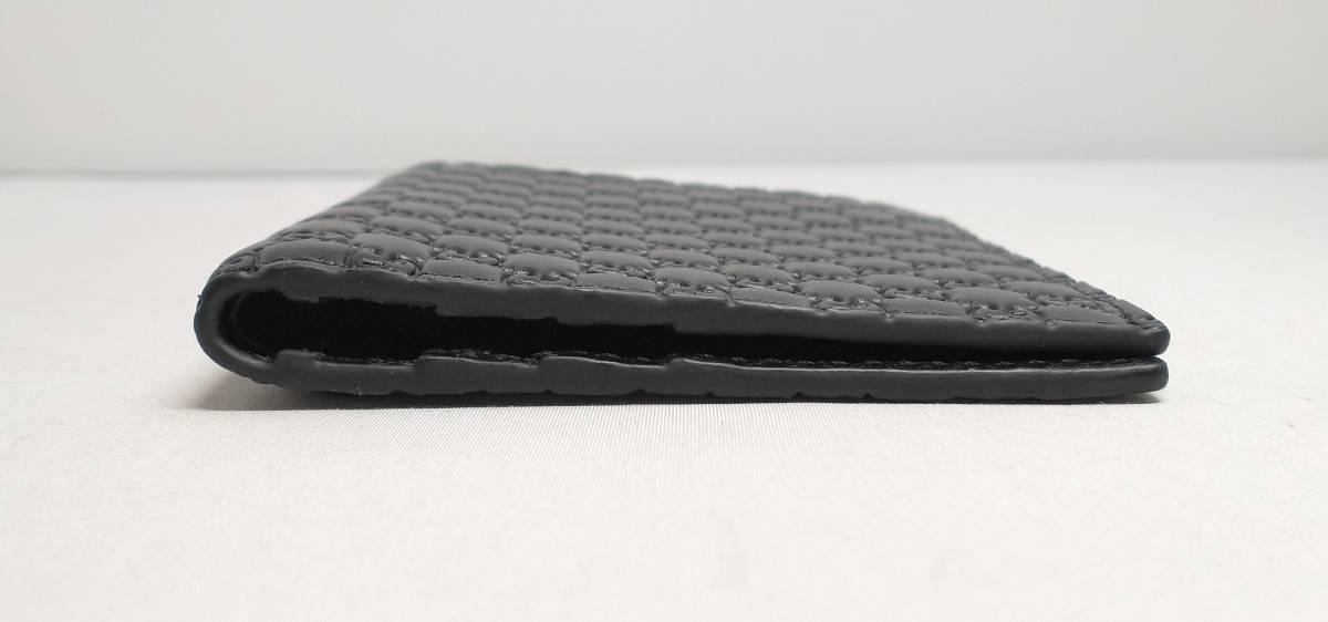 【即決・未使用品・展示品】GUCCI グッチ マイクロGG カードケース 札入れ 二つ折り財布 292533 ブラック レザー メンズ_画像2