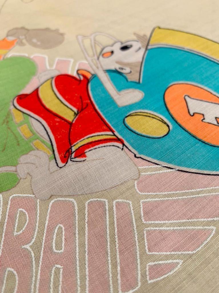 子供柄 昭和レトロ アンティーク デットストック メリンス 古布 モスリン 生地 コレクター ハンドメイド 手作り ファンシー ノスタルジー d