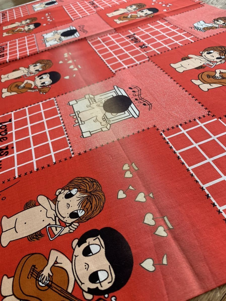 Love is… ラブイズ 昭和レトロ キャラクター 子供柄 当時物 アンティーク デットストック 生地 コレクター ハンドメイド 布 ファンシー