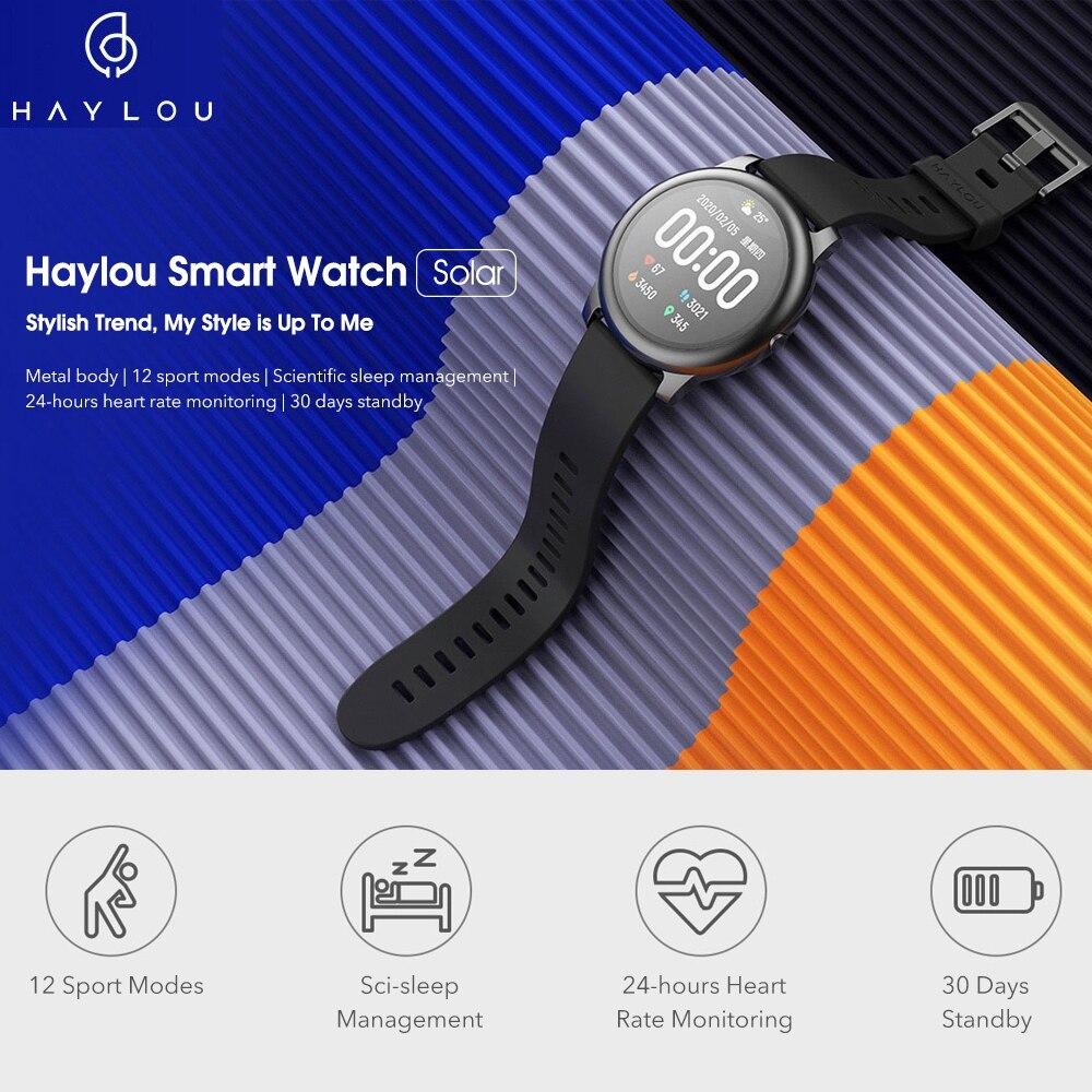 YOUPIN HAYLOUソーラースマート腕時計韓国グローバルバージョンスポーツフィットネスブレスレットバンドスマートウォッチ女性男性アンドロ _画像2