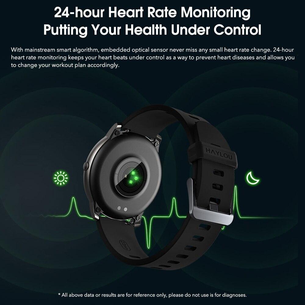 YOUPIN HAYLOUソーラースマート腕時計韓国グローバルバージョンスポーツフィットネスブレスレットバンドスマートウォッチ女性男性アンドロ _画像3