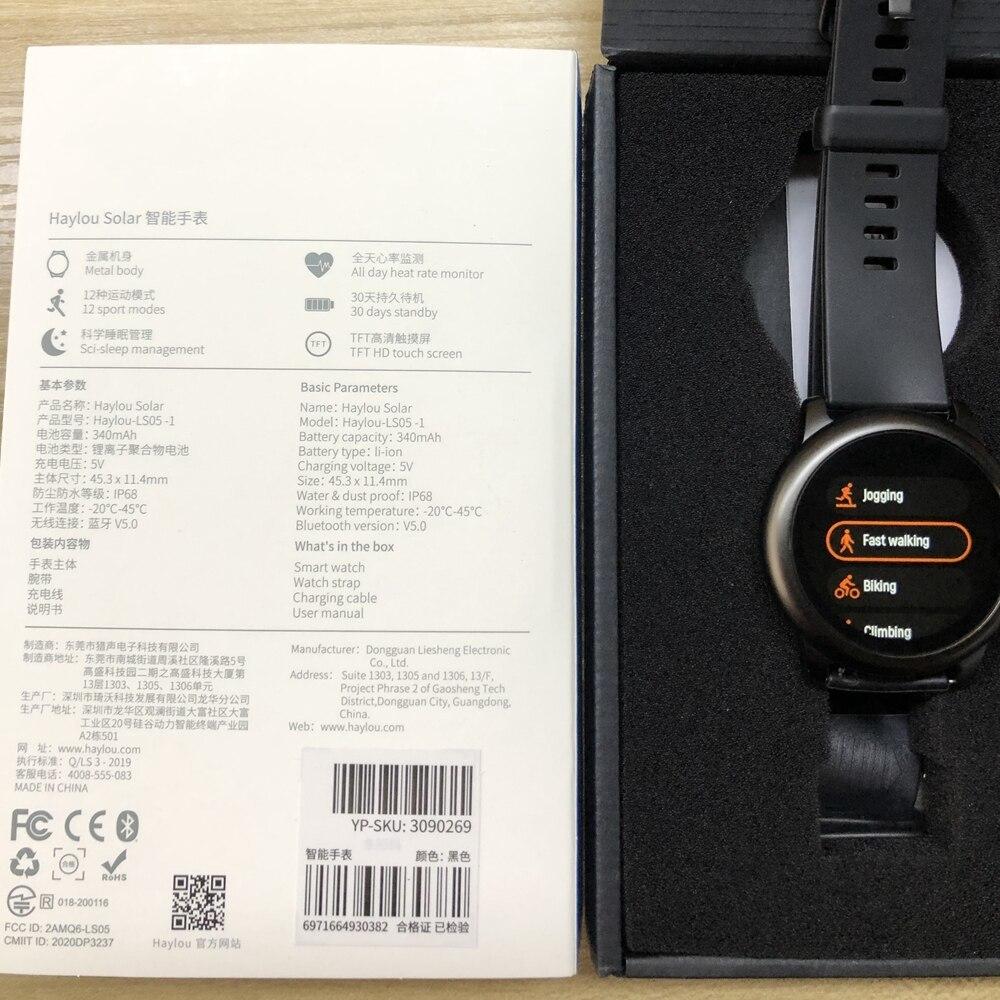 YOUPIN HAYLOUソーラースマート腕時計韓国グローバルバージョンスポーツフィットネスブレスレットバンドスマートウォッチ女性男性アンドロ _画像6