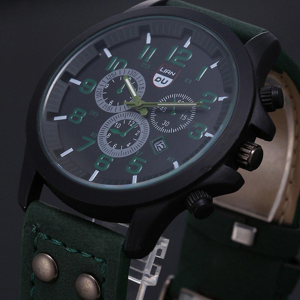 2020 ヴィンテージ古典的な腕時計メンズ腕時計ステンレス鋼防水日付レザーストラップスポーツクォーツ軍レロジオ MASCULINO リロイ_画像4
