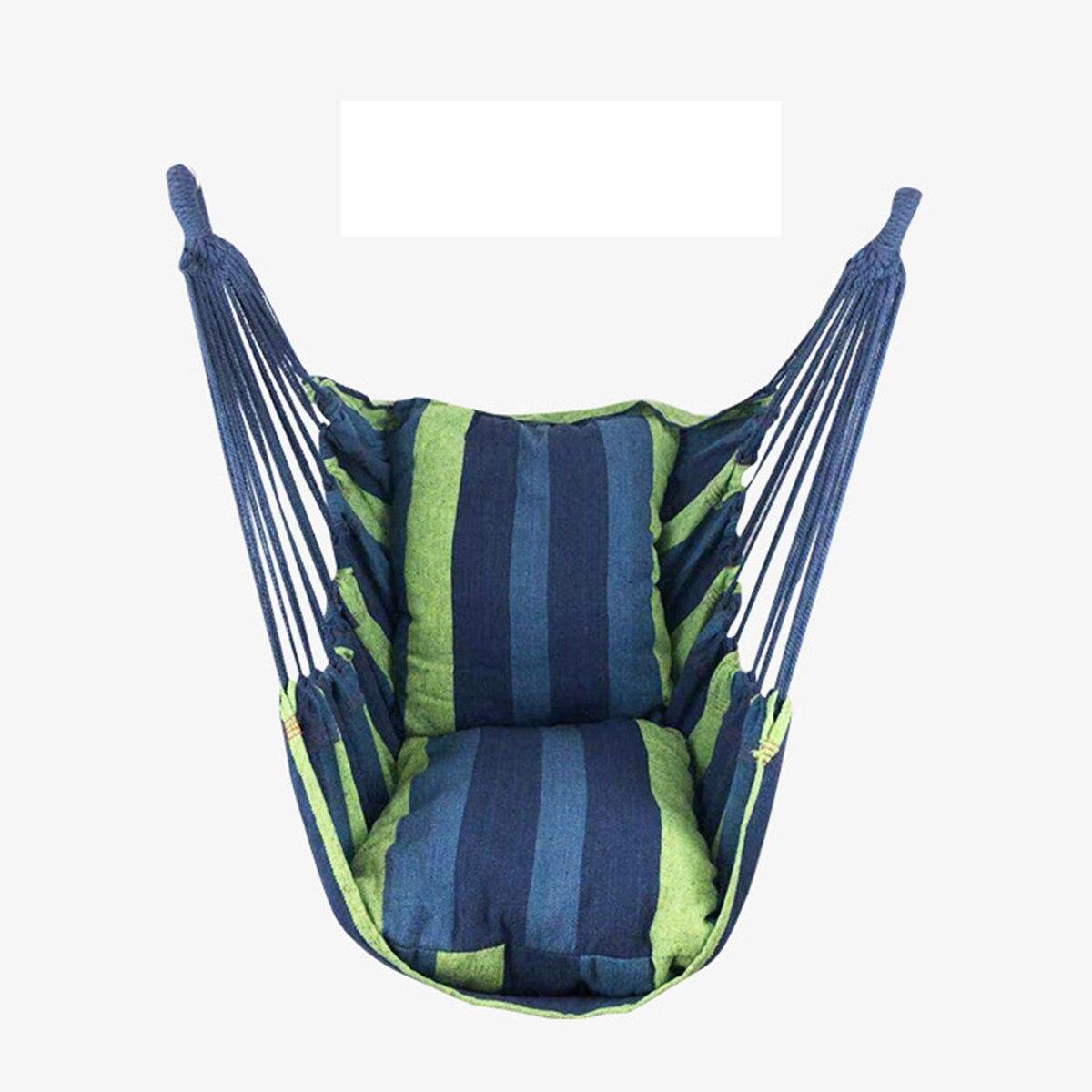 ポータブルハンモック椅子ぶら下げロープ椅子スイングチェアシートと 2 枕庭屋内屋外ファッショナブルなハンモックスイング_画像7