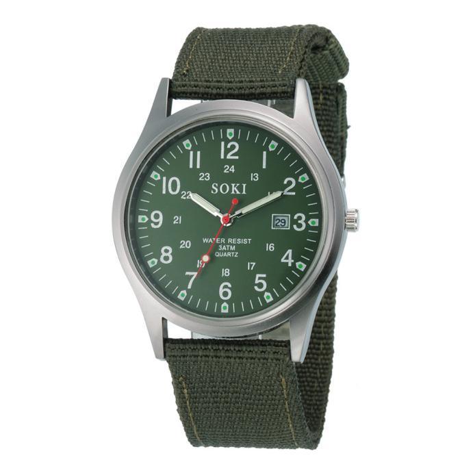 2020ミリタリー日付キャンバスバンドステンレススチールスポーツクォーツ腕時計メンズ腕時計防水レロジオMASCULINOリロイ_画像10