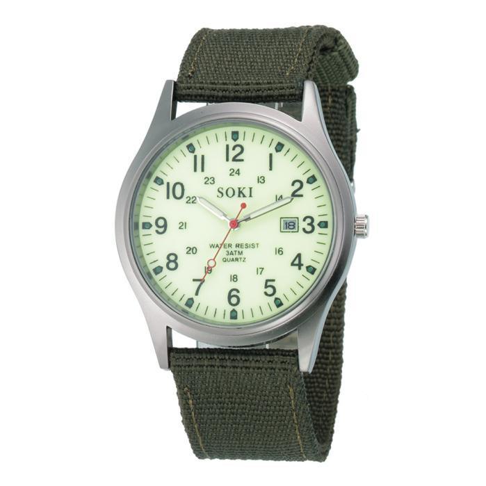 2020ミリタリー日付キャンバスバンドステンレススチールスポーツクォーツ腕時計メンズ腕時計防水レロジオMASCULINOリロイ_画像7