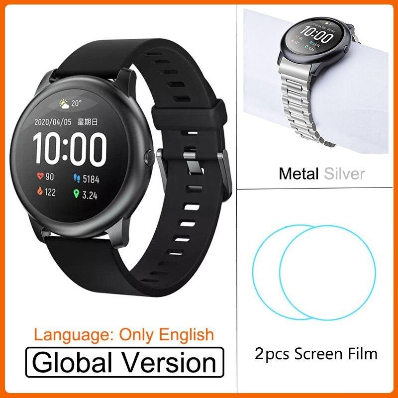 YOUPIN HAYLOUソーラースマート腕時計韓国グローバルバージョンスポーツフィットネスブレスレットバンドスマートウォッチ女性男性アンドロ _画像8