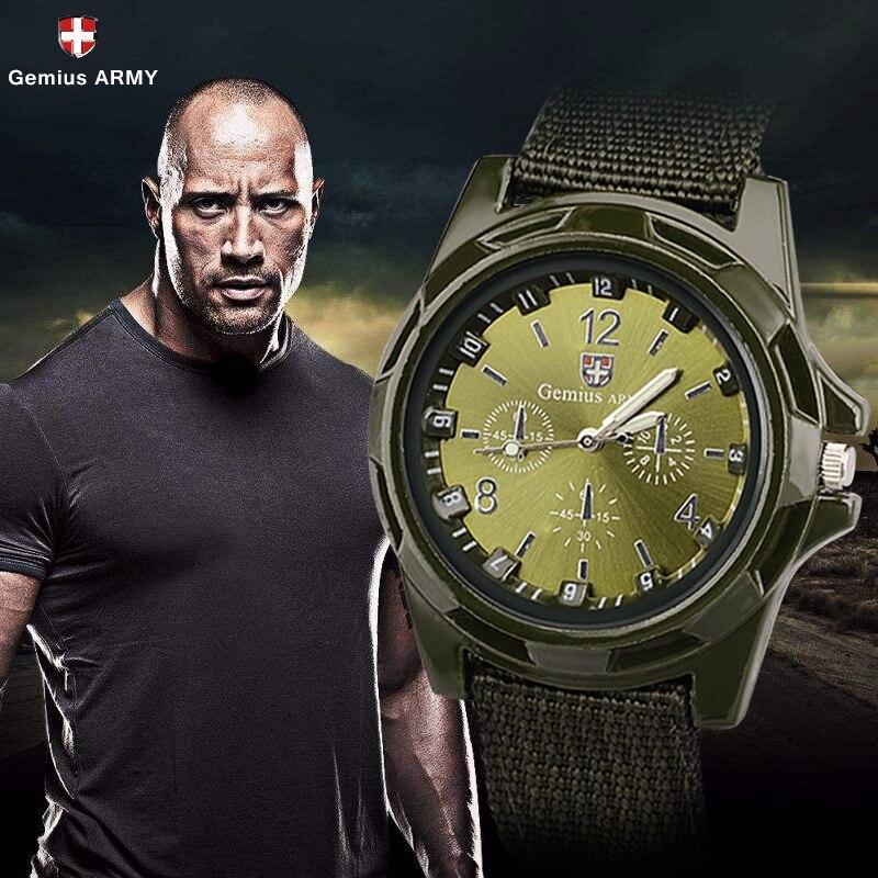 ホット販売軍用時計男性 GEMIUS 陸軍メンズ腕時計メンズスポーツ腕時計ナイロンバンド男性時計リロイ HOMBRE レロジオ MASCULINO_画像1
