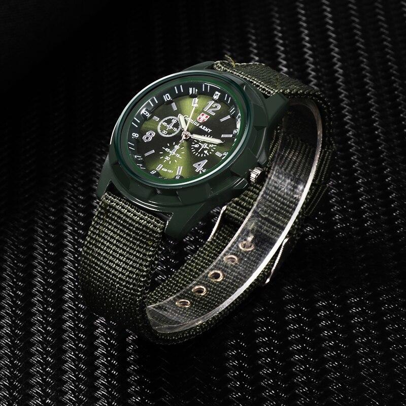 ホット販売軍用時計男性 GEMIUS 陸軍メンズ腕時計メンズスポーツ腕時計ナイロンバンド男性時計リロイ HOMBRE レロジオ MASCULINO_画像2