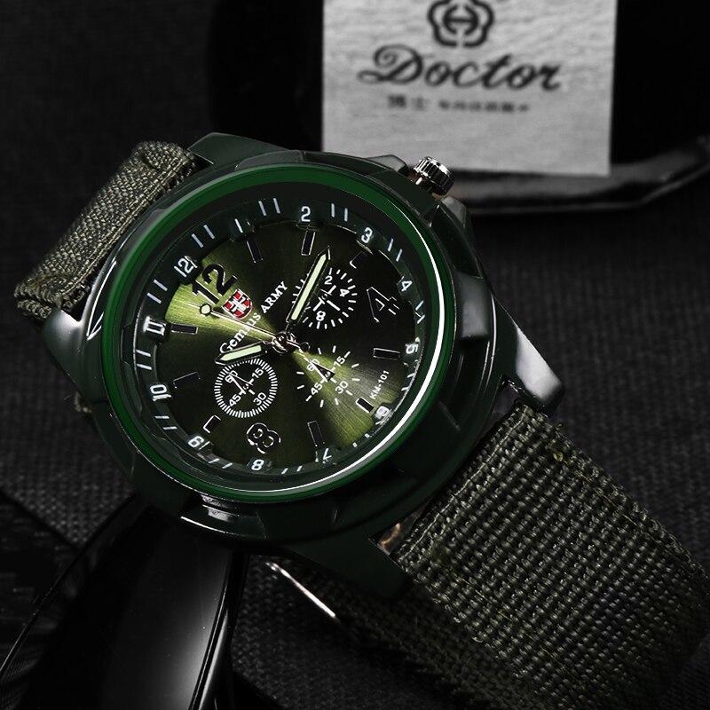 ホット販売軍用時計男性 GEMIUS 陸軍メンズ腕時計メンズスポーツ腕時計ナイロンバンド男性時計リロイ HOMBRE レロジオ MASCULINO_画像3