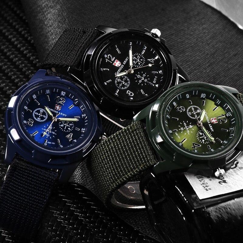 ホット販売軍用時計男性 GEMIUS 陸軍メンズ腕時計メンズスポーツ腕時計ナイロンバンド男性時計リロイ HOMBRE レロジオ MASCULINO_画像4