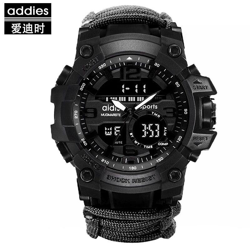 LED ミリタリー ウォッチコンパス 30 メートル男性防水スポーツ時計男性ファッション時計電子デジタルディスプレイ腕時計_画像8