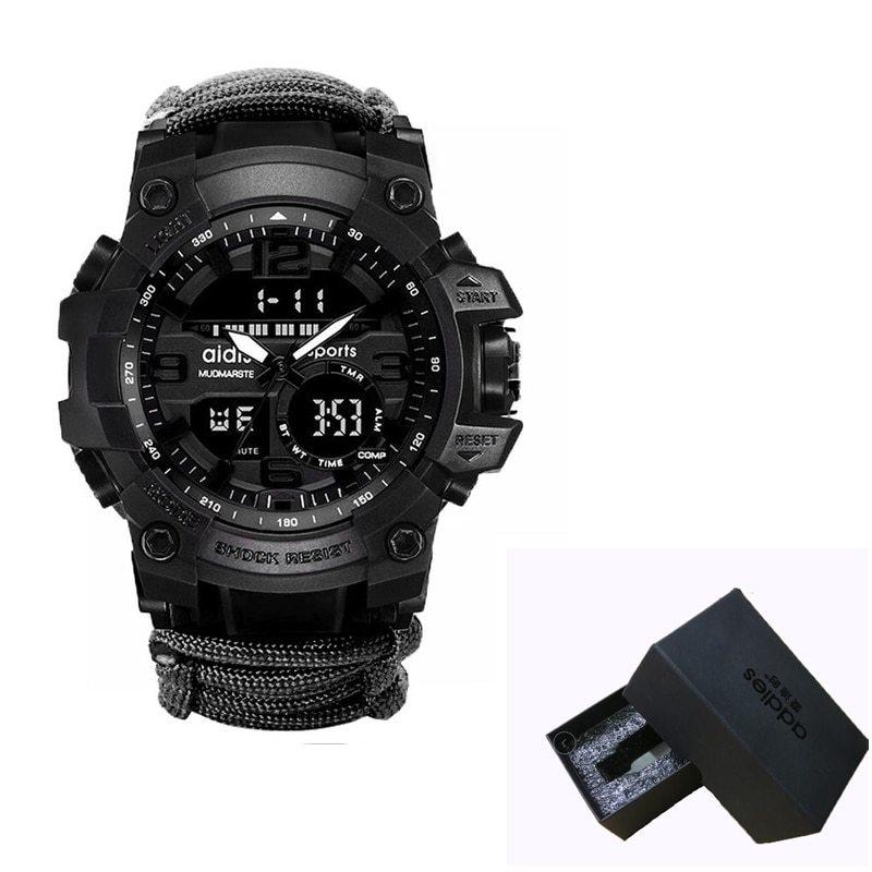 LED ミリタリー ウォッチコンパス 30 メートル男性防水スポーツ時計男性ファッション時計電子デジタルディスプレイ腕時計_画像10