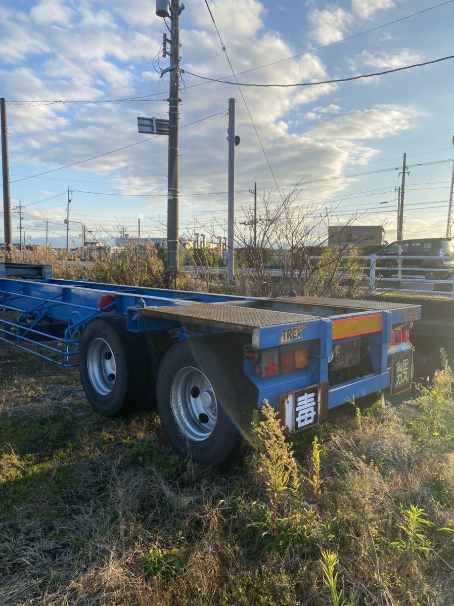 「トレクス セミトレーラー コンテナトレーラー 書類付き ヘッドトラック 用 トレーラー」の画像2