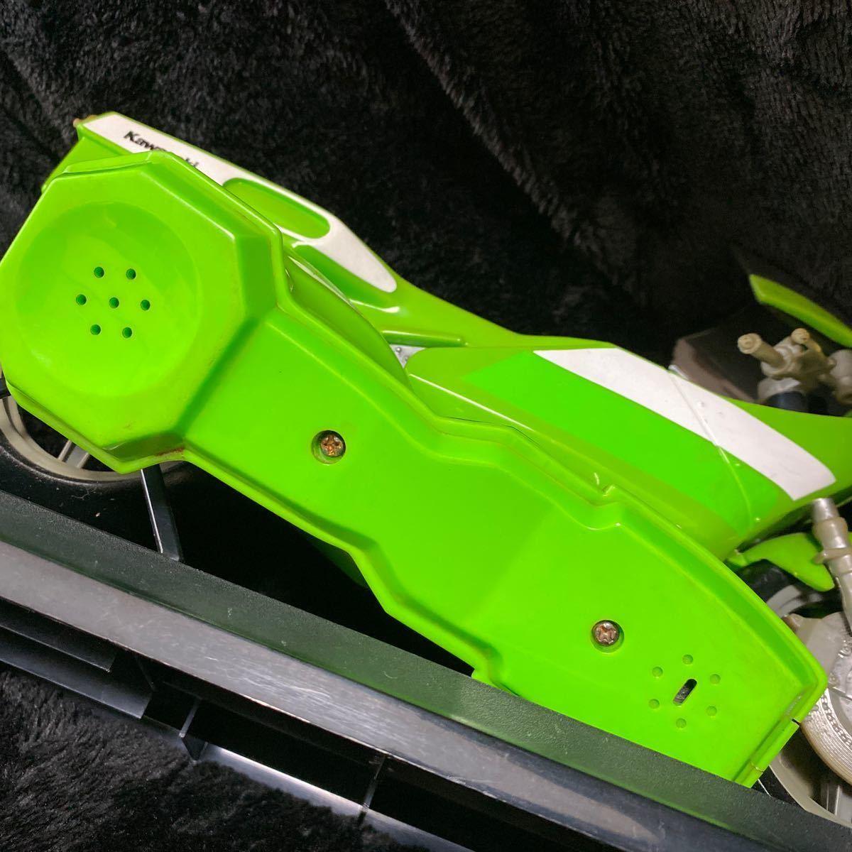 【現状渡し】Kawasaki YE-500 バイク型固定電話 ユピテル工業株式会社 レトロ コレクション品 カワサキ バイク アンティーク 電話機電話器_画像8