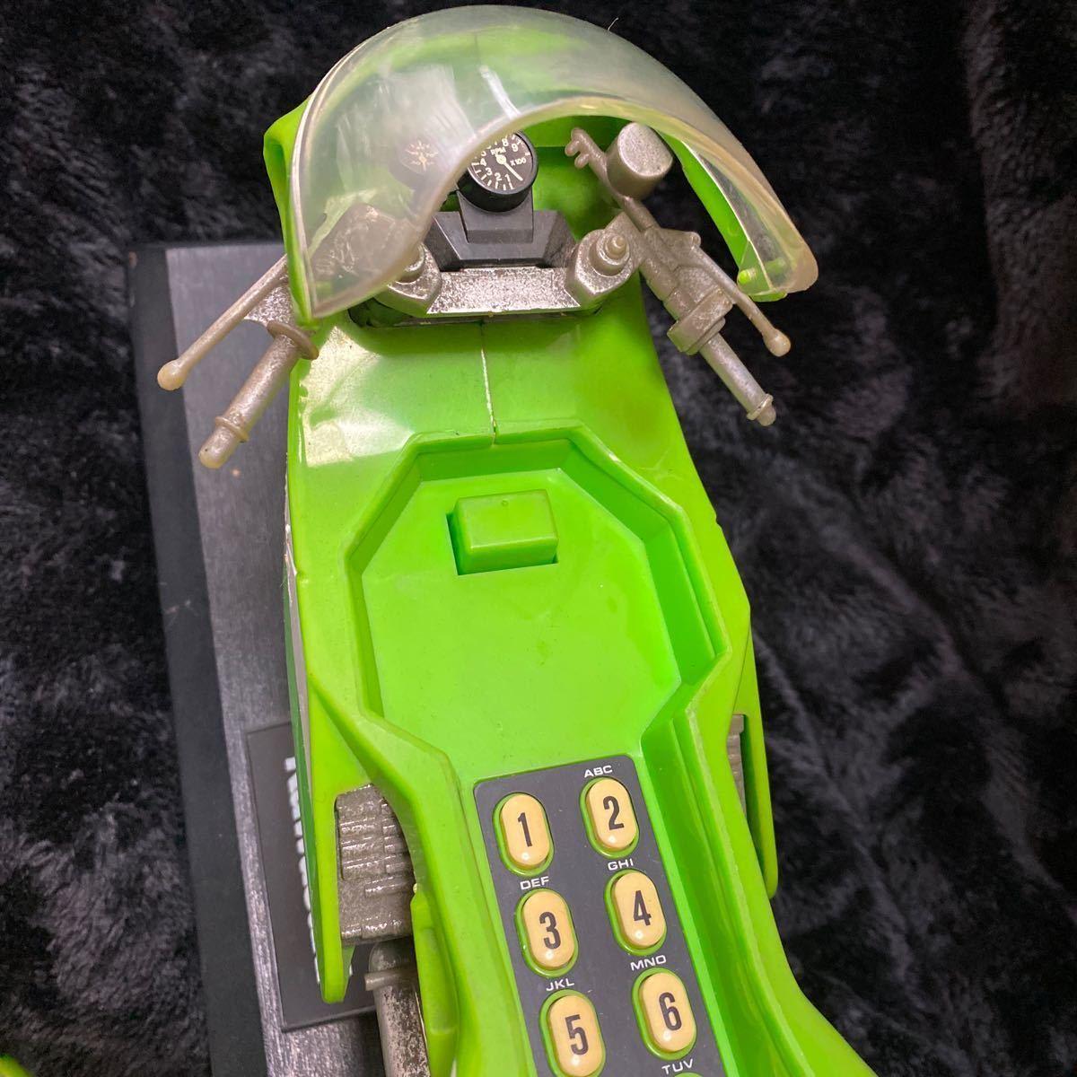 【現状渡し】Kawasaki YE-500 バイク型固定電話 ユピテル工業株式会社 レトロ コレクション品 カワサキ バイク アンティーク 電話機電話器_画像4