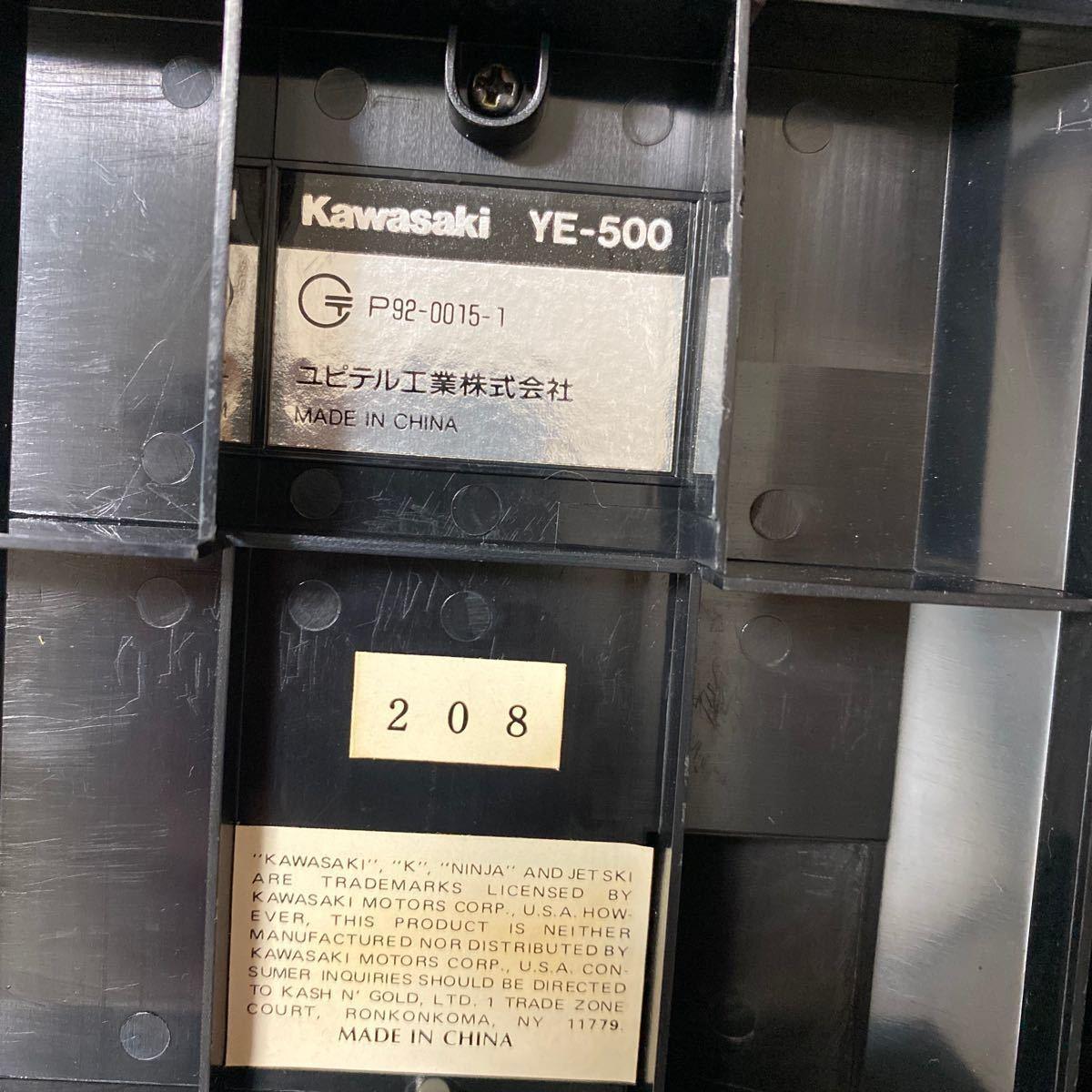 【現状渡し】Kawasaki YE-500 バイク型固定電話 ユピテル工業株式会社 レトロ コレクション品 カワサキ バイク アンティーク 電話機電話器_画像10