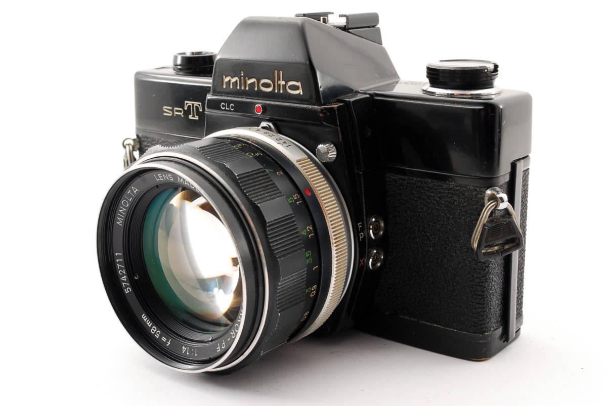 送料無料・動作品★minoltaフィルムカメラ★minolta ミノルタ SRT101 MC ROKKOR-PF 1:1.4 f=58mm レンズ ボディ フィルムカメラ現状品_画像1