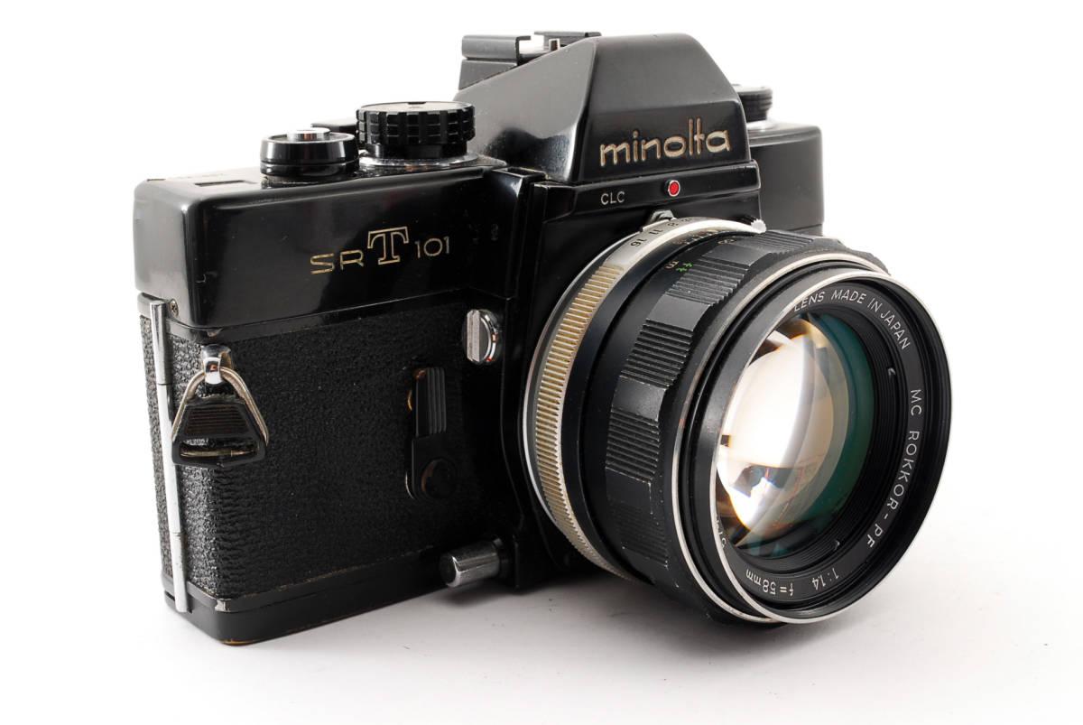 送料無料・動作品★minoltaフィルムカメラ★minolta ミノルタ SRT101 MC ROKKOR-PF 1:1.4 f=58mm レンズ ボディ フィルムカメラ現状品_画像3