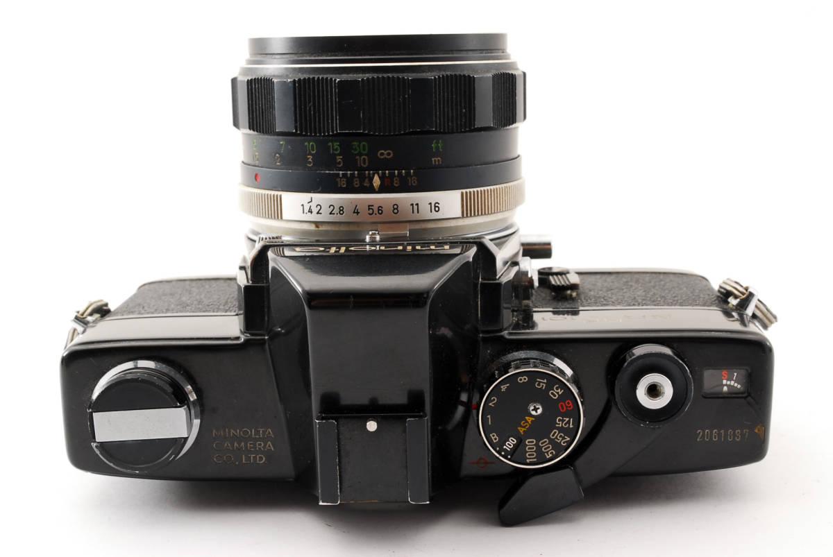 送料無料・動作品★minoltaフィルムカメラ★minolta ミノルタ SRT101 MC ROKKOR-PF 1:1.4 f=58mm レンズ ボディ フィルムカメラ現状品_画像5
