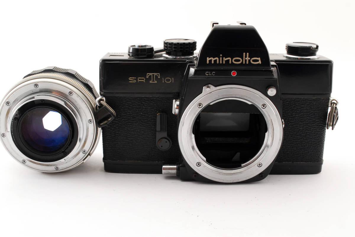 送料無料・動作品★minoltaフィルムカメラ★minolta ミノルタ SRT101 MC ROKKOR-PF 1:1.4 f=58mm レンズ ボディ フィルムカメラ現状品_画像10