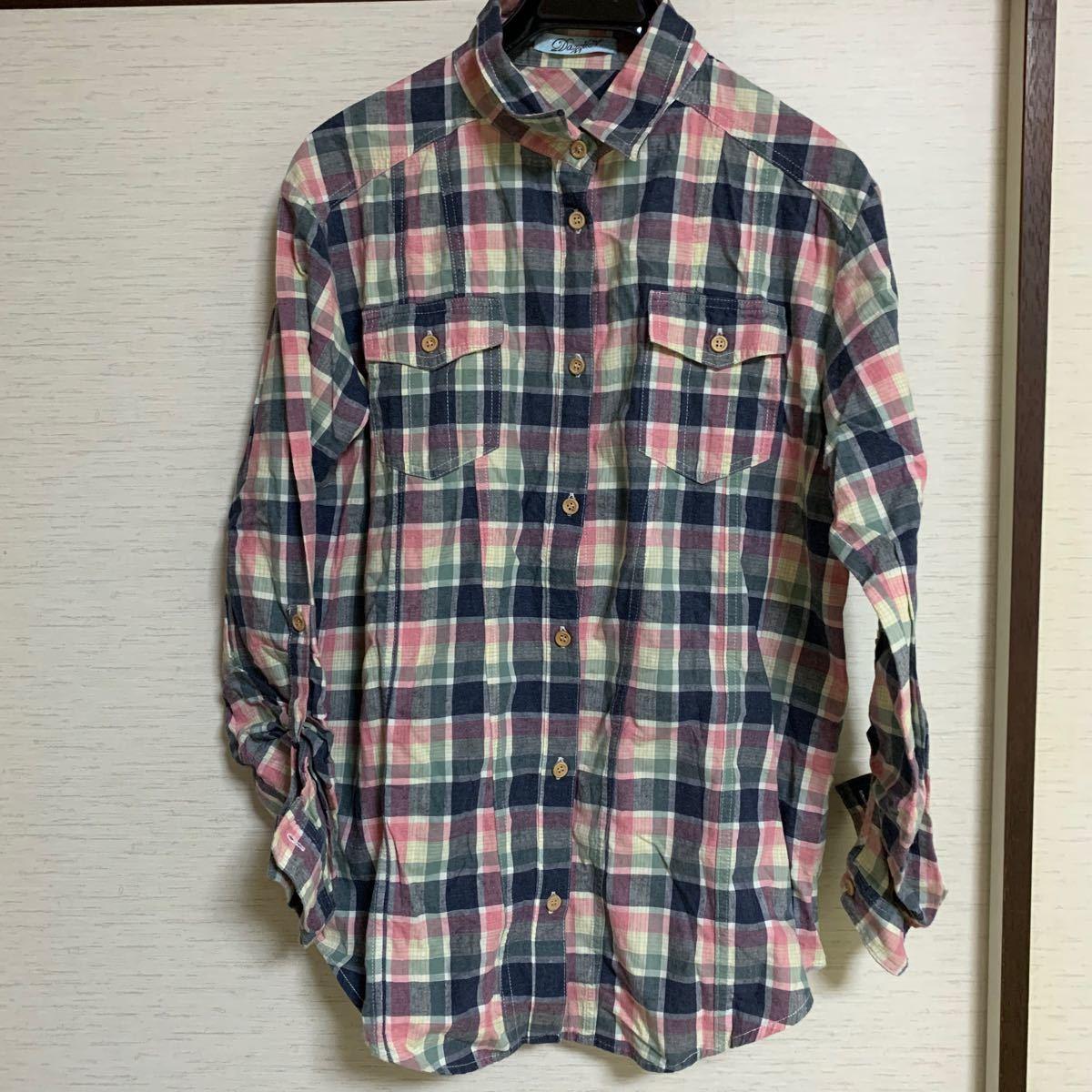 dazzlin ダズリン チェックシャツ ネルシャツ 長袖シャツ チェック柄