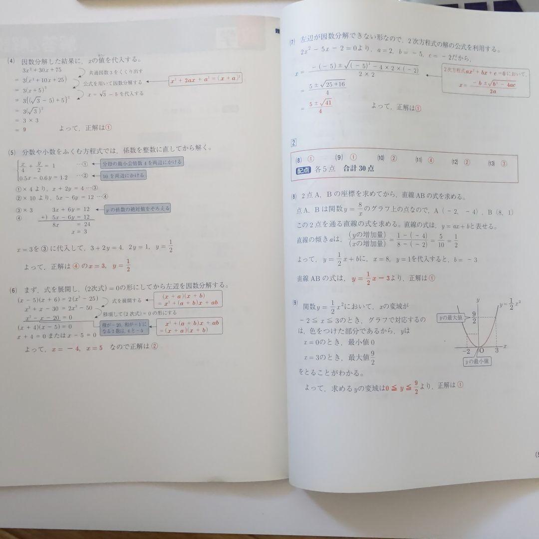 進研ゼミ中学講座 中3 高校入試対策問題