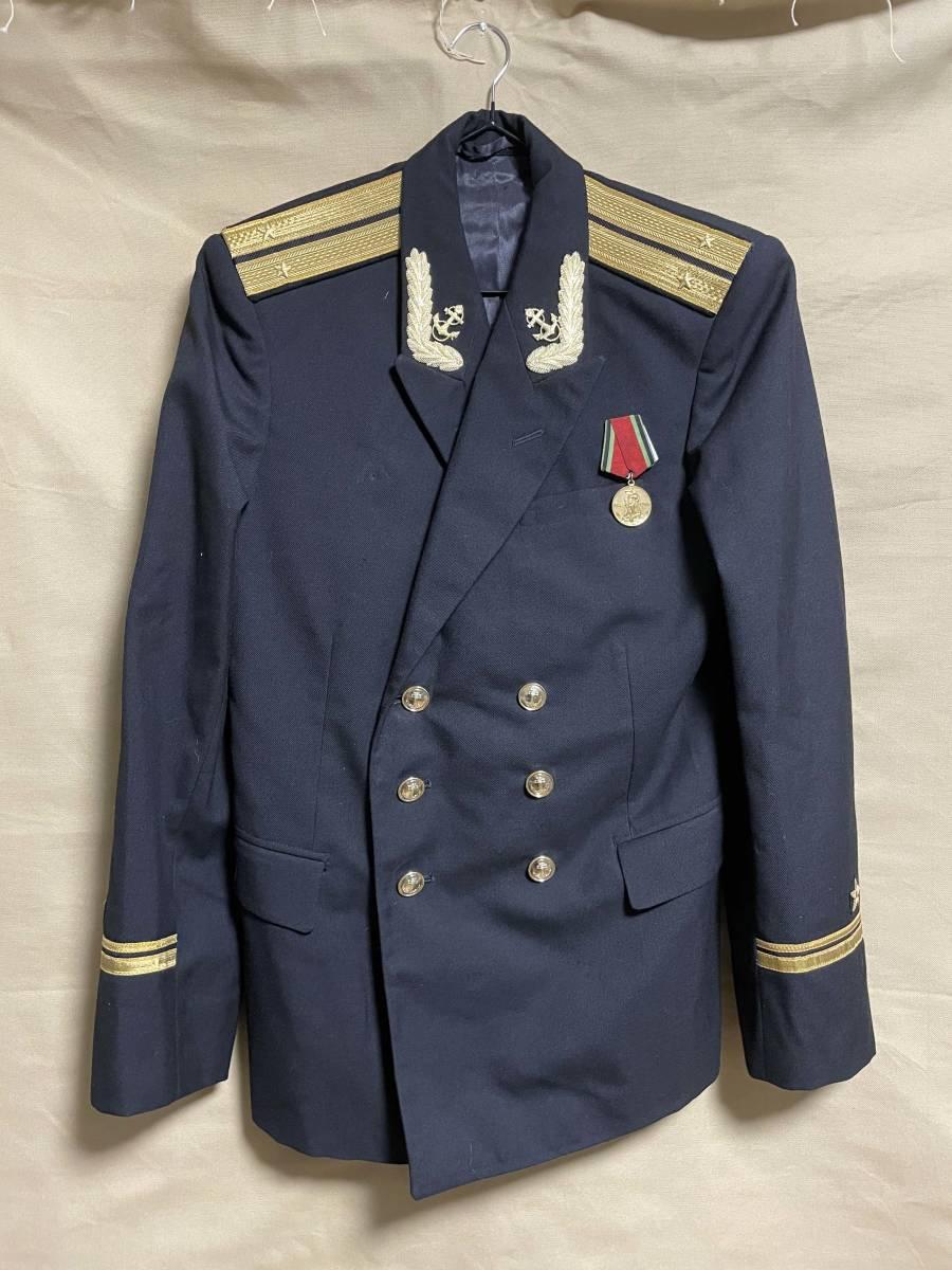 ソビエト連邦 ソビエトロシア海軍 海軍少尉 ジャケット 実物 放出品 USSR CCCP ソ連 海軍 中古品 徽章 セット_画像1
