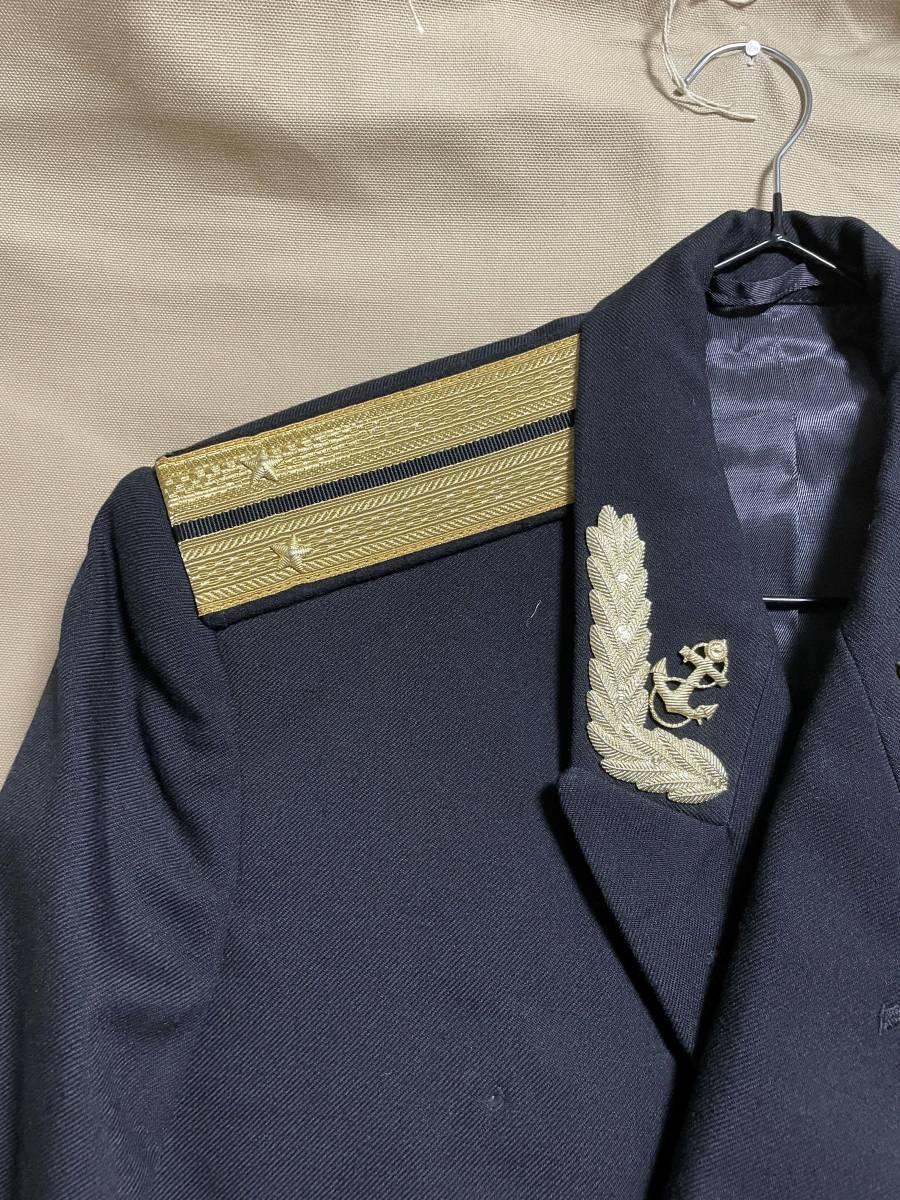 ソビエト連邦 ソビエトロシア海軍 海軍少尉 ジャケット 実物 放出品 USSR CCCP ソ連 海軍 中古品 徽章 セット_画像3