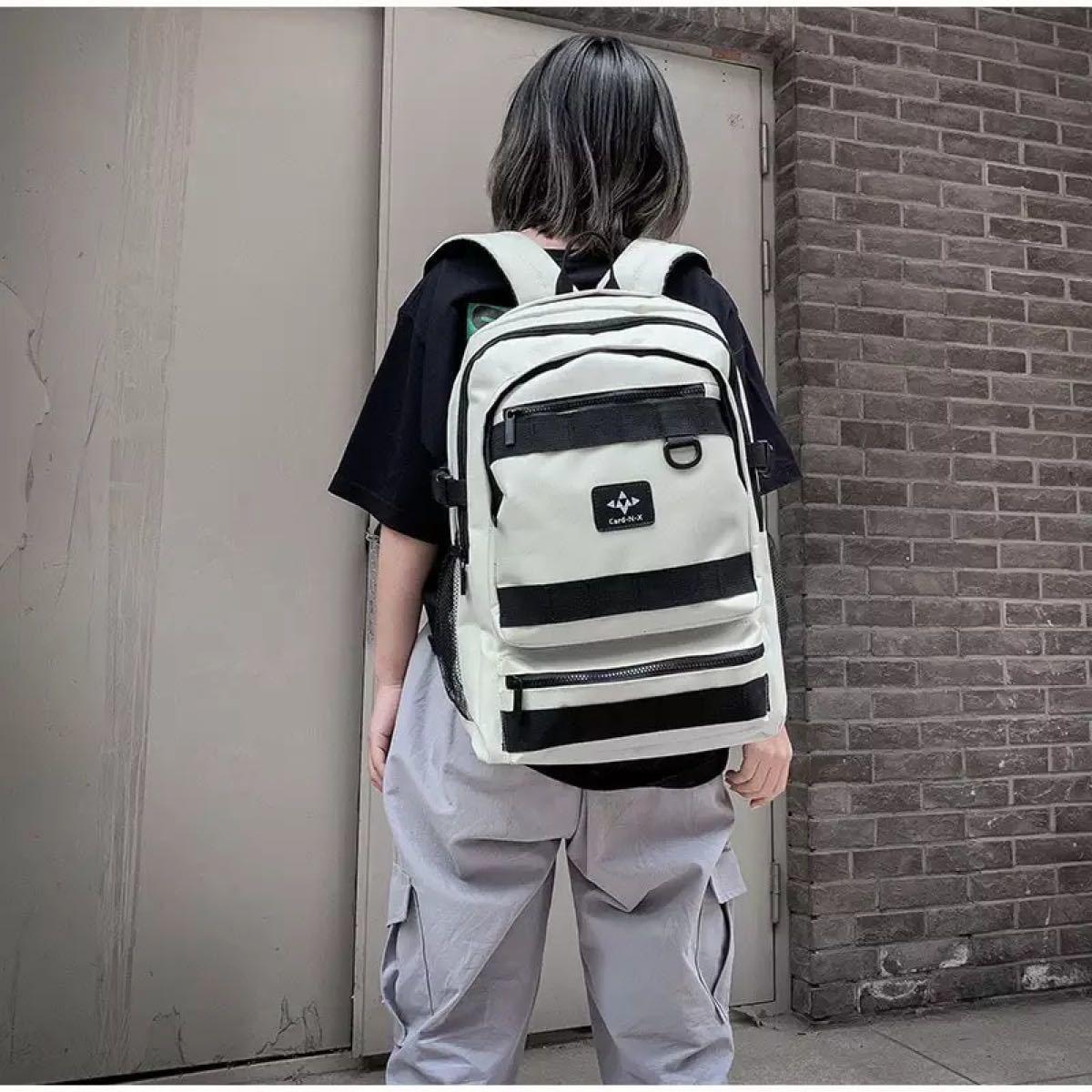 韓国リュック バックパック シンプル 通学 通勤 男女兼用 白色