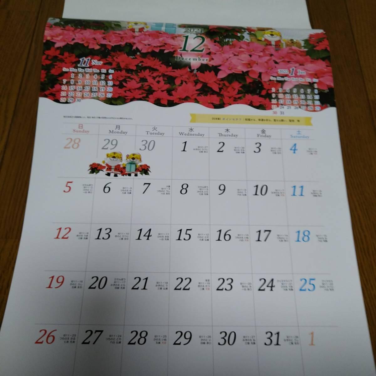 近畿産業信用組合 きんさん とらきち 壁掛けタイプ カレンダー 2021 12枚+1枚_画像4