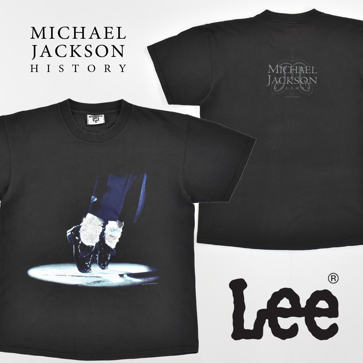 Michael Jackson マイケルジャクソン ★ リー Leeボディ USA製 ヴィンテージ 90s 1994 HISTORY コピーライト有 半袖 Tシャツ 黒 L_画像1