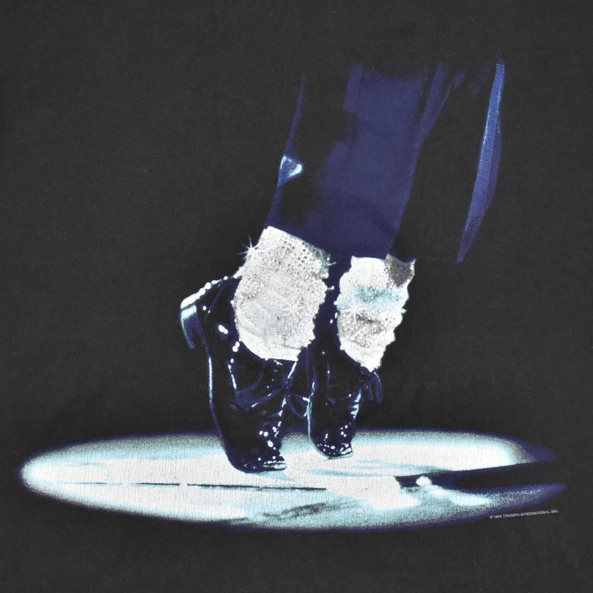 Michael Jackson マイケルジャクソン ★ リー Leeボディ USA製 ヴィンテージ 90s 1994 HISTORY コピーライト有 半袖 Tシャツ 黒 L_画像6
